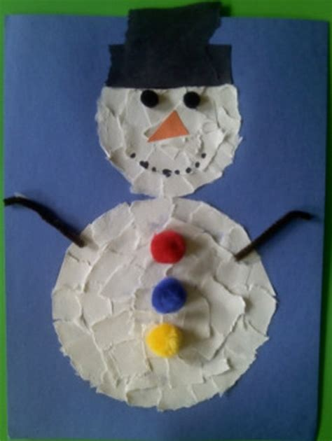 Winter Construction Paper Crafts - list of easy snowman crafts for to make 5 171 funnycrafts