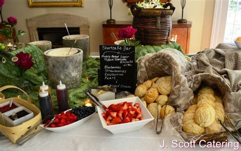 bridal shower entree ideas j catering philadelphia chester county event caterers wedding caterer 187 dessert station