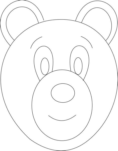 coloring page of a bear head best photos of bear face template teddy bear face