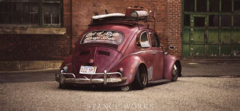 stanced volkswagen beetle air cooled stance works