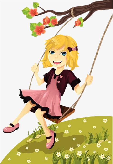 swing girls download swing the little girl little girl swing branches png