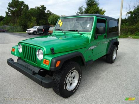 Lime Green Jeep Wrangler For Sale 2004 Jeep Wrangler Sport 4x4 In Electric Lime Green Pearl