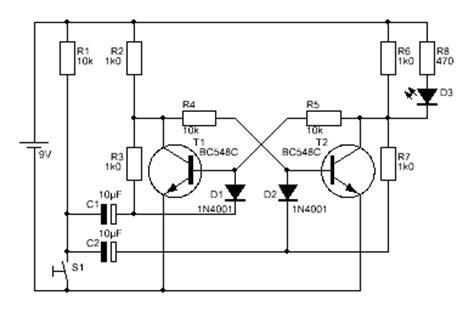 transistor bc548c bc546c bc550c stromstossschaltung nur ein klick