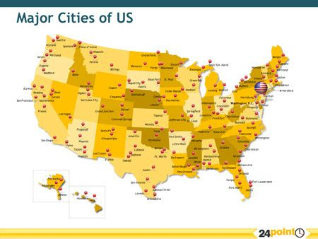 Map Of Us States With Major Cities by Major Cities Of The Us Map Showing The Major Cities Of