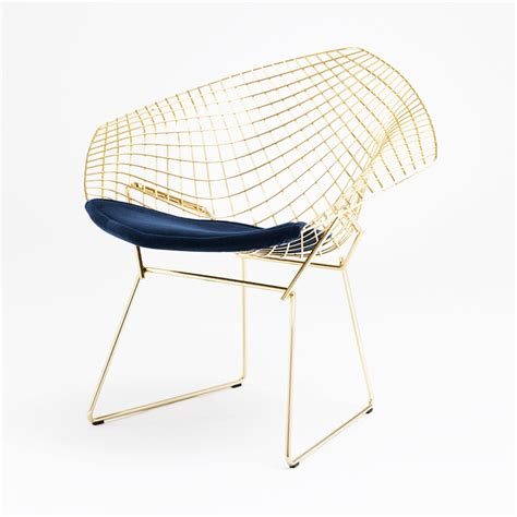 bertoia stuhl bertoia chair in gold knoll