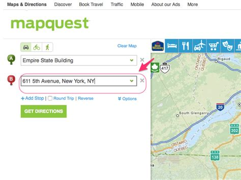 get directions maps by car how to get driving directions on mapquest next generation