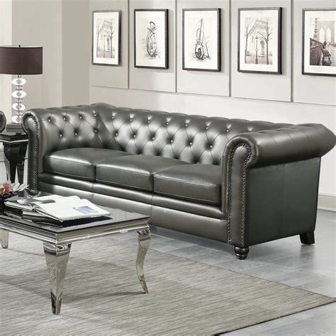 Gray Leather Chesterfield Sofa Chesterfield Sofa Grey Leather Grey Leather Chesterfield Sofas Suites Settees Thesofa