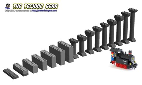 Lego 2736 Duplo Switching Track howto create lego inclines