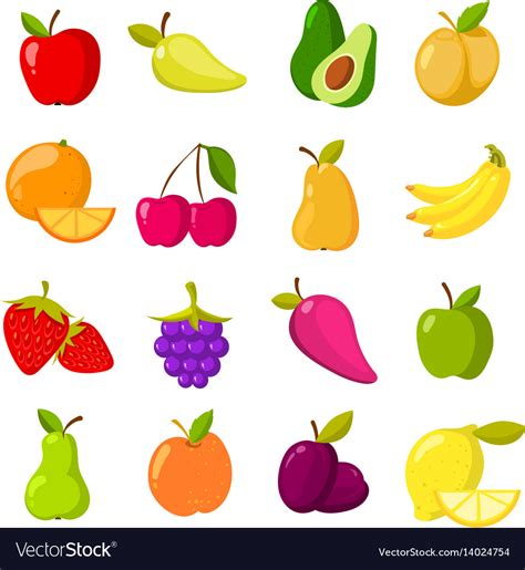 fruit clipart fruits clipart collection isolated vector image