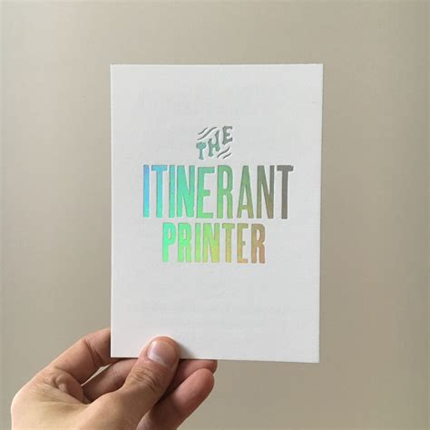 itinerant printer coffee table book the itinerant printer