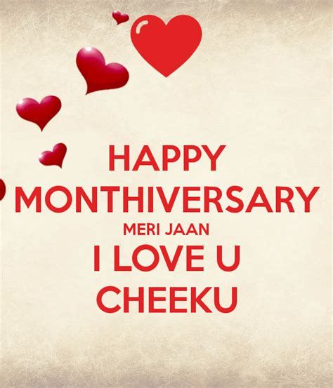 images of love jaan happy monthiversary meri jaan i love u cheeku poster