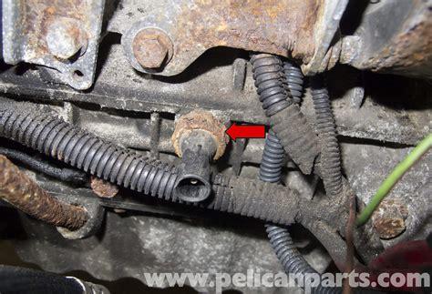 volvo  oil pressure sensor replacement   pelican parts diy maintenance article