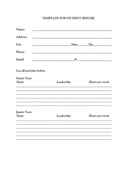 Resume Example: Blank Resume To Print Free Blank Resume To