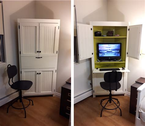 Corner Computer Cabinet by White Corner Computer Cabinet Diy Projects