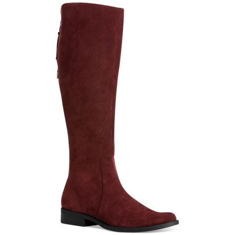 wide calf suede boots calvin klein taylin wide calf boots in