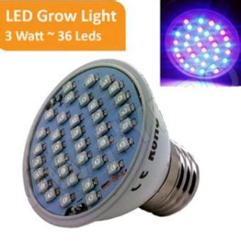 Led Growlight 6 Watt Perlengkapan Hidroponik grow light 3 watt 36 led bibitbunga