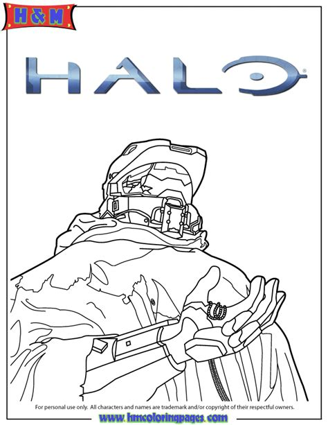 halo 5 video game coloring page h m coloring pages