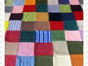 mod 232 le tricot couverture patchwork par aubout aiguille