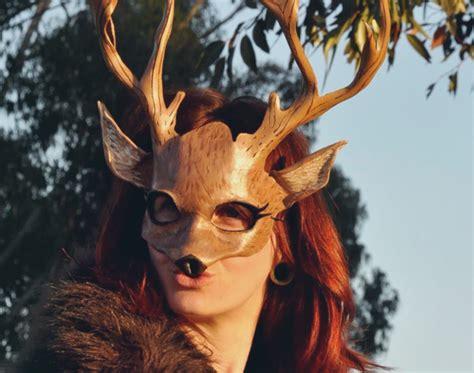 Creepy Deer Mask cool or creepy 15 handmade animal masks for