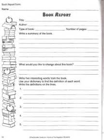 Free Printable Biography Book Report Form by Book Report Worksheets For Grade Grade Books