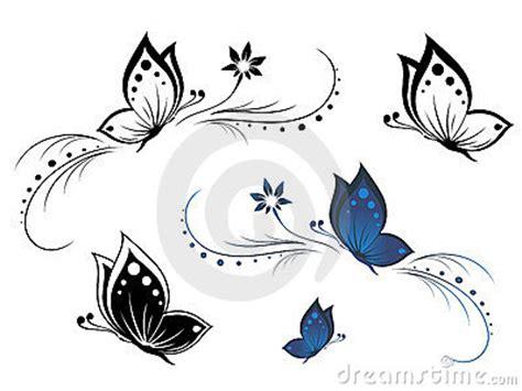 tatuaggi farfalle e fiori insieme farfalle con un reticolo di fiore fotografie stock