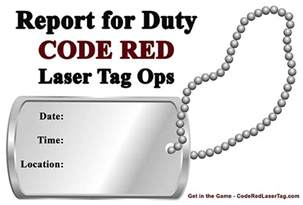 free military party invitations code red mobile laser tag