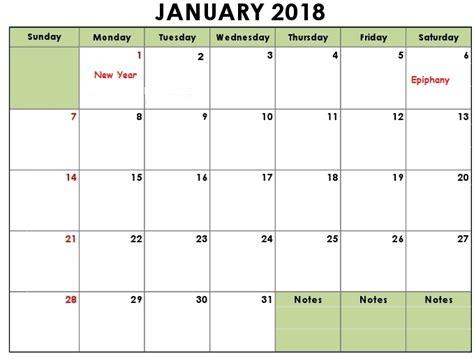 calendar template january 2018 january 2018 calendar printable calendar templates