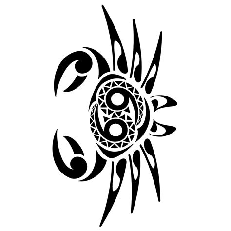 tribal cancer tattoo tatouage tribal signe astrologique cancer