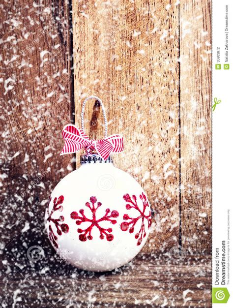 christmas decoration over wooden background with