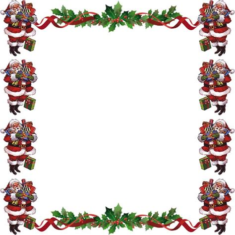 Wreath Decorations free christmas borders