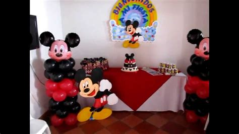 cumplea os mickey mouse decoracion decoracion con globos de mickey mouse youtube mejor