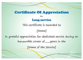 certificate for years of service template 50 professional free certificate of appreciation