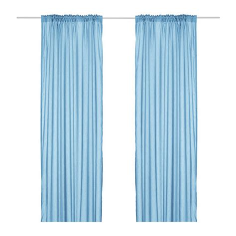 sheer blue curtains ikea torhild curtains drapes blue 2 panels semi sheer