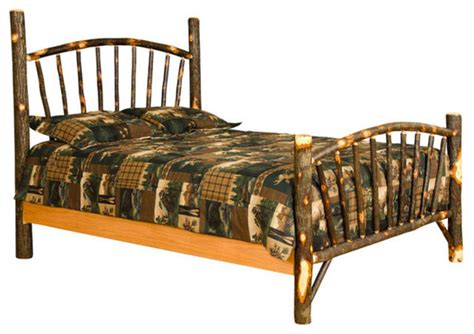 rustic full size bed rustic hickory sunburst bed full size rustic bed