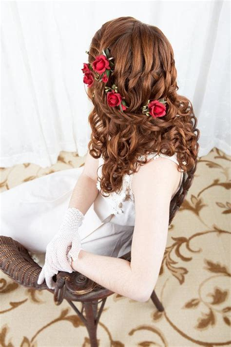 Wedding Hair With Roses by Scarlet Wedding Bridal Hairpiece 2228732 Weddbook