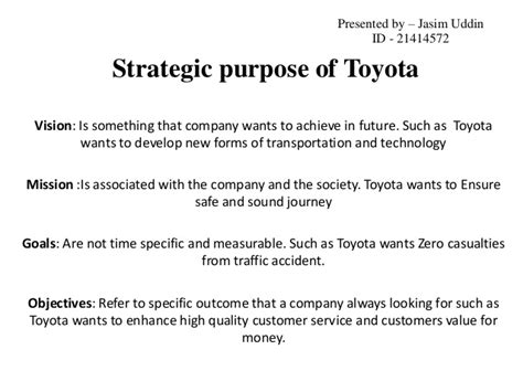 Management Of Toyota Company Toyota Motor Corporation
