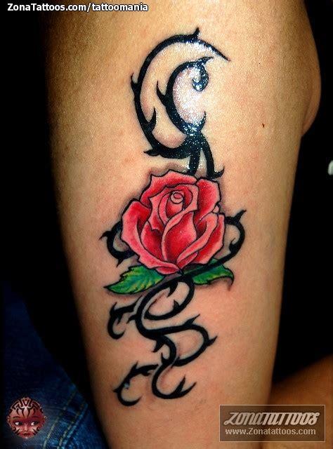 imagenes tatuajes rosas tatuaje de espinos flores rosas