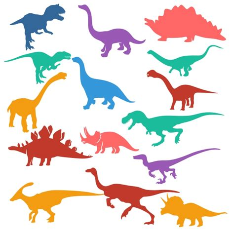 Dino Silhouettes Cuttable Design