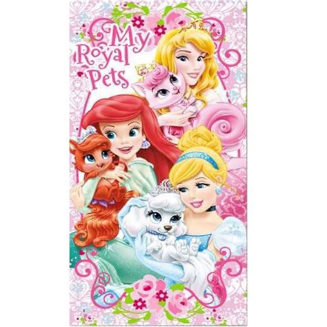 Disney Princess Bath Towel Pink disney princess palace pets towel pink ebay