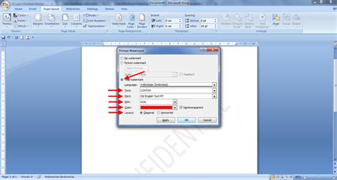 cara membuat watermark ms word 2007 cara membuat watermark di word panduan microsoft office