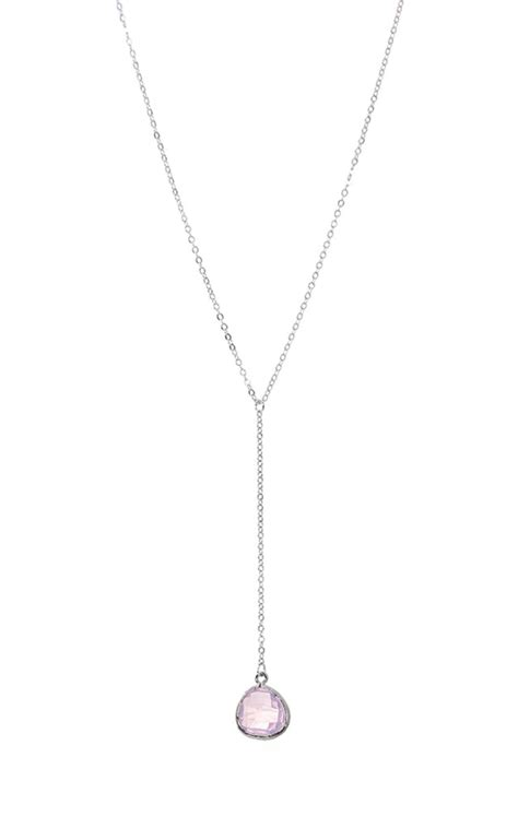 Opal Drop Necklace opal drop necklace in silver silkfred