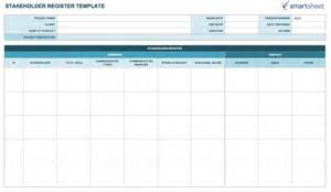 Communication Profile Template by Free Stakeholder Analysis Templates Smartsheet
