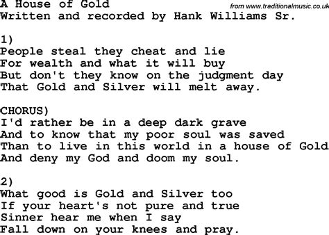 house of gold lyrics country southern and bluegrass gospel song a house of gold lyrics
