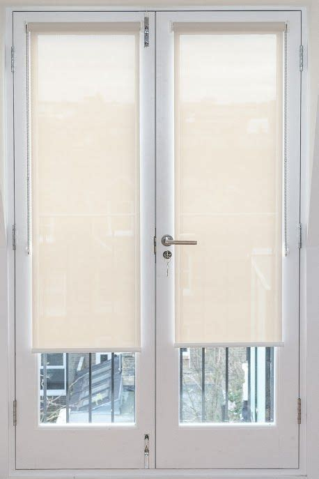 Sunscreen Roller Blinds Fitted To French Doors Http Www Patio Door Curtains And Blinds