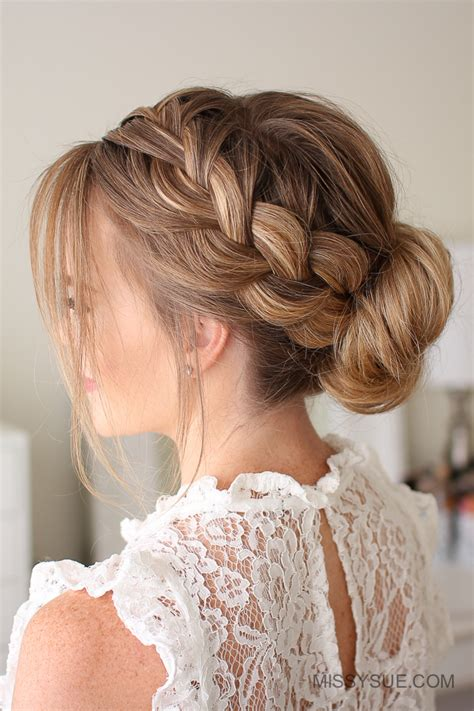 french braid low side missy sue beauty style