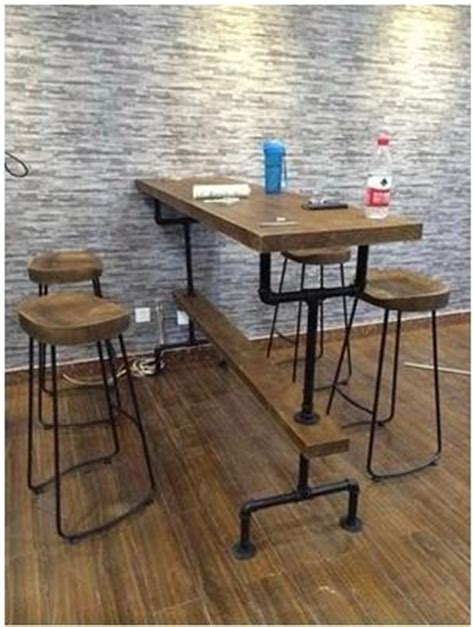 Ikea Kitchen Island Stools 2018 loft style wood bar tables and chairs vintage wrought