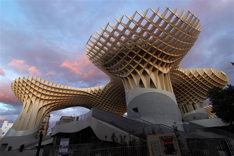 One Level Houses by Metropol Parasol Sevilla Metropol Parasol Is A Wooden