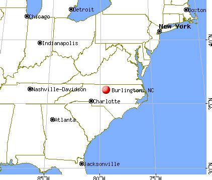 map of burlington carolina burlington carolina nc profile population maps