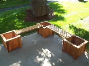 Planting Benches Cedar Planter Bench Set By Wood Country