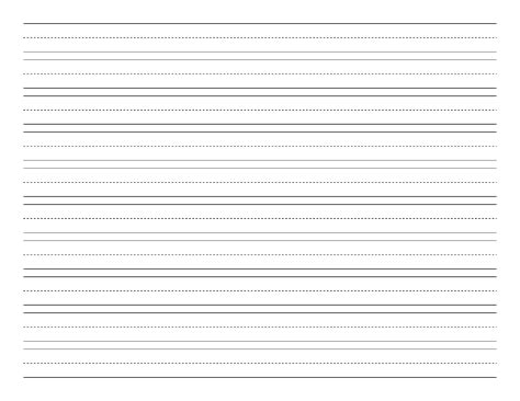 Penmanship Paper With Ten Lines Per Page On Letter Sized Paper In Landscape Orientation Free Letter Template With Lines